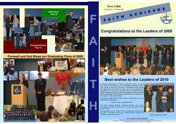 2009 Term 4 - Faith Lutheran College