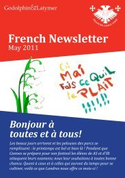 French Newsletter - The Godolphin and Latymer School