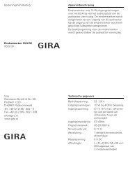 Bedieningshandleiding Eindversterker 10/4 DC 0532 00 ... - Gira