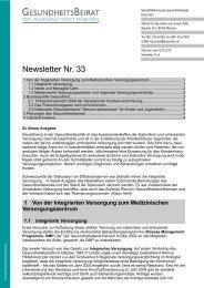 Newsletter Nr. 33 - Gesundheitsbeirat-muenchen.de