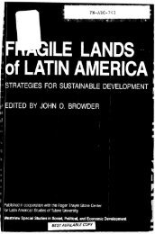 Fragile Lands of Latin America Strategies for ... - PART - USAID