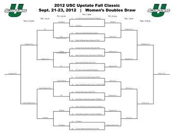 2012 USC Upstate Fall Classic Sept. 21-23, 2012 | Women's ...