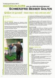 sChmerZfrei Besser gOlfen Golfen ist gesund - Golf-Biomechanic ...