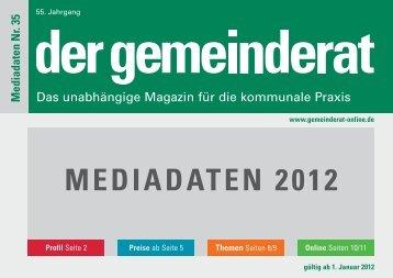 MEDIADATEN 2012 - Der Gemeinderat