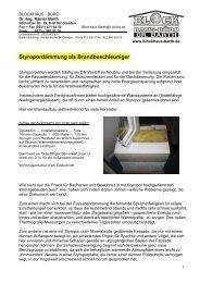Styropordämmung als Brandbeschleuniger - Blockhaus Barth