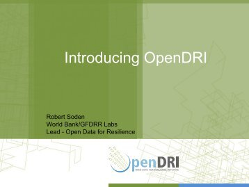 Open Data Resilience Initiative - GFDRR