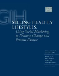 Selling healthy lifestyles - Grantmakers In Health
