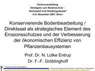 Konservierende Bodenbearbeitung / Direktsaat als ... - bei der GKB eV