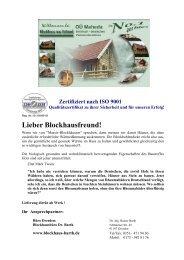Haustyp WB-58 - Blockhaus Barth