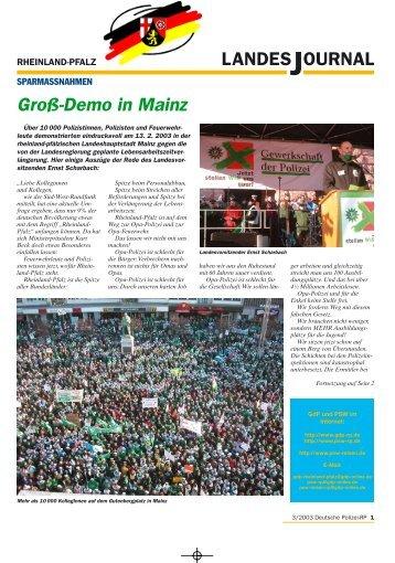 Journal März 2003 - gdp-deutschepolizei.de