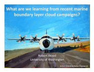 What are we learning from recent marine boundary layer ... - GEWEX