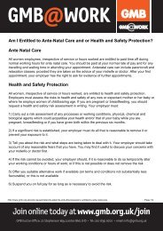 Am I Entitled to Ante-Natal Care and or Health and Safety ... - GMB