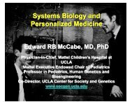 Presentation on Systems Biology - UCLA Human Genetics