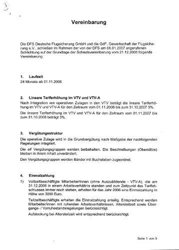 Schlichtungsvereinbarung - GdF Gewerkschaft der Flugsicherung eV