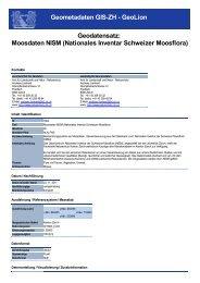 Nationales Inventar Schweizer Moosflora - GIS-ZH - Kanton Zürich