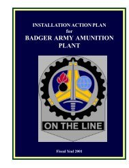 INSTALLATION ACTION PLAN for BADGER ARMY AMUNITION ...