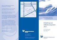 Einladung zum Palliativsymposium 2013