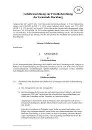 Gebührenordnung zur Friedhofsordnung der Gemeinde Dornburg ...