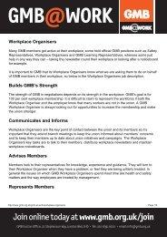 Workplace Organisers - GMB