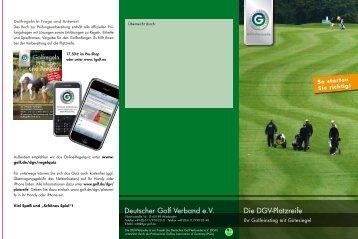 Flyer DGV-Platzreife - Golf-Club Bergisch Land