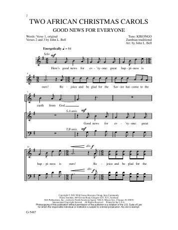 TWO AFRICAN CHRISTMAS CAROLS - GIA Publications
