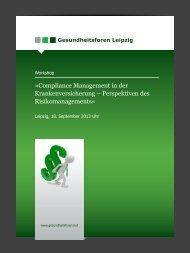 Compliance Management - Gesundheitsforen Leipzig GmbH