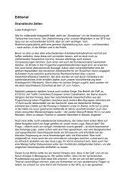 Editorial - GdF Gewerkschaft der Flugsicherung eV