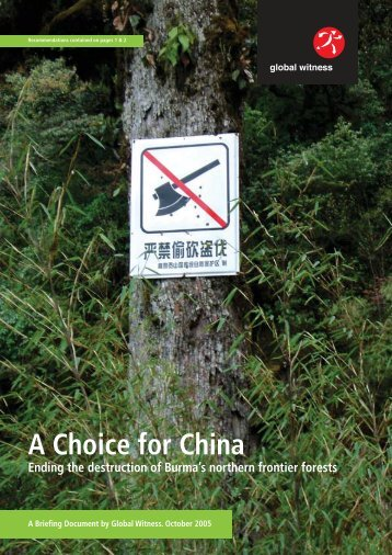 A Choice for China - Global Witness