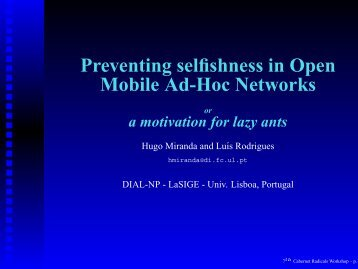 Preventing selfishness in Open Mobile Ad-Hoc Networks - GetACoder