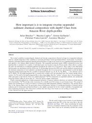 How important is it to integrate riverine suspended sediment ...