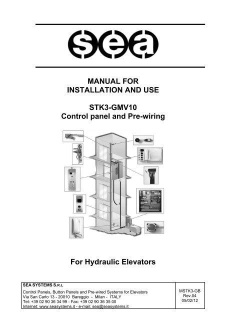 MANUAL FOR INSTALLATION AND USE STK3-GMV10 Control ... on