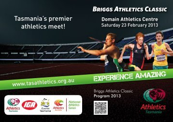 Meet Program including start lists and final timetable - Athletics ...