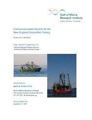 Community-based Sectors for the New England Groundfish Fishery