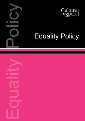Equality Policy - Glasgow Life