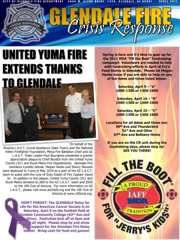 UNITED YUMA FIRE EXTENDS THANKS TO ... - City of Glendale