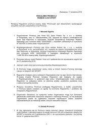 Warszawa, 17 września 2010 REGULAMIN PROMOCJI ... - Go Sport