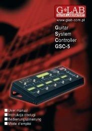 Instrukcja obsługi GSC-5 - G LAB