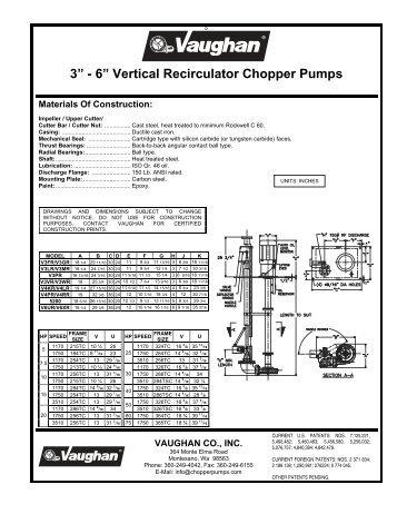 3 u201d 6 u201d vertical wet well chopper pumps vaughan chopper pumps rh yumpu com Vaughan Triton Centrifugal Screw Pump Vaughan Chopper Pumps Sewers
