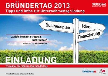 GründertaG 2013 tipps und Infos zur Unternehmensgründung ...