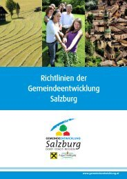 Richtlinien zum Ablauf der Gemeindeentwicklung Salzburg