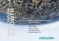 Presentation 1st Quarter 2013 - Gerresheimer