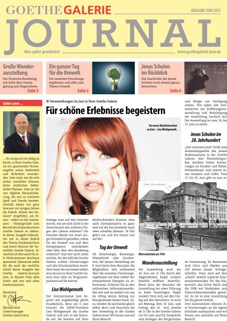 Ausgabe Juni 2013 - Goethe Galerie Jena