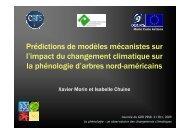 Changement climatique - CNRS