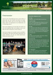 Newsletter April 2013 - Golfclub am Meer