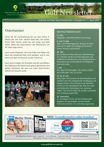Newsletter April 2013 - Golfclub am Meer