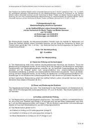 PO 2011 - Deutsches Seminar - Leibniz Universität Hannover