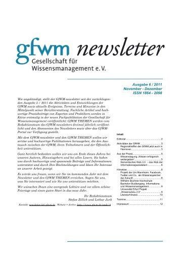 GfWM newsletter 6 2011 MASTER - GfWM - Gesellschaft für ...