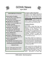 GOHA Newsletter April 2005 - Goha.us