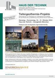 HAUS DER TECHNIK - Geothermie