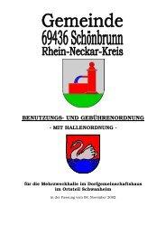 Benutzungs- und Gebührenordnung -mit Hallenordnung - Schönbrunn